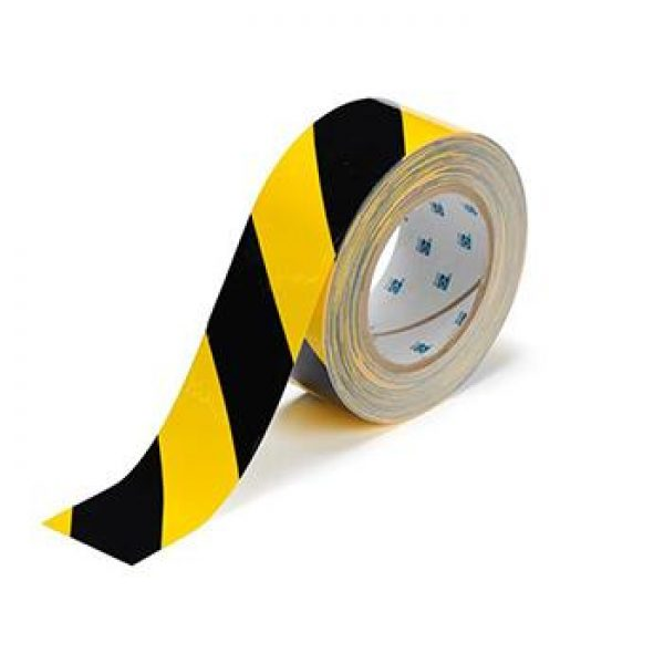 blkyellow floor tape