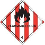 flammable solid warning label