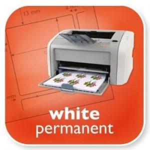 White Permanent Labels